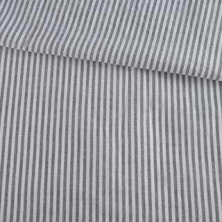 Вискоза рубашечная в бело-серую полоску 3мм ш.135 оптом