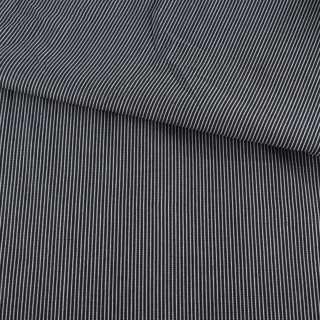 Ткань рубашечная синяя в узкую белую рельефную полоску ш.146 оптом