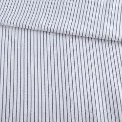 Ткань рубашечная белая в тонкую синюю полоску ш.147 оптом