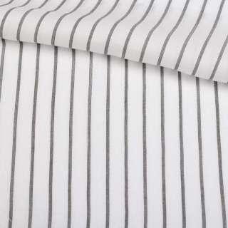 Вискоза рубашечная белая в черную полосу 10*1мм ш.147 оптом