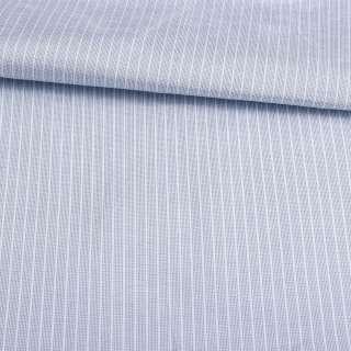 Поликоттон голубой в белую полосу 4*1мм ш.143 оптом
