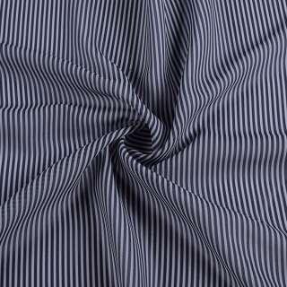 Ткань рубашечная в сине-серую полоску 2мм, ш.150 оптом