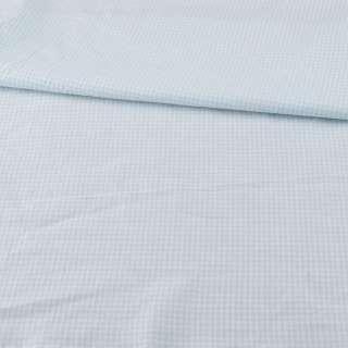 Коттон в біло-блакитну дрібну клітку ш.160 оптом