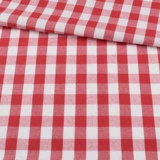 Шотландка біло-червона ш.140 оптом