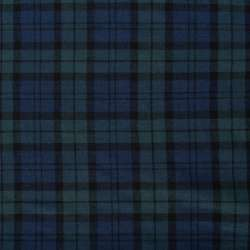 Шотландка синяя темная в темно-бирюзовую клетку ш.145 оптом