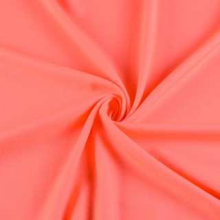 Поликоттон стрейч коралловый неон, ш.154 оптом