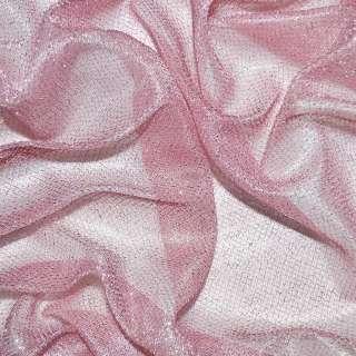 Трикотаж бледно-розовый с метанитью ш.110 оптом