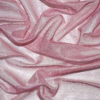 Трикотаж рожевий з метанітью ш.115 оптом
