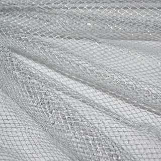 Сітка срібляста з люрексом (жорстка, велика) ш.150 оптом