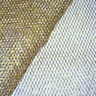 сетка св.коричн. с золот. люрексом (жесткая, крупная) ш.160 оптом