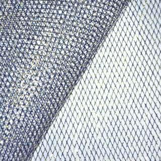 сетка синяя с золот. люрексом (жесткая, крупная) ш.160 оптом