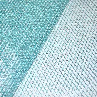 сетка голубая с серебр. люрексом (жесткая, крупная) ш.160 оптом