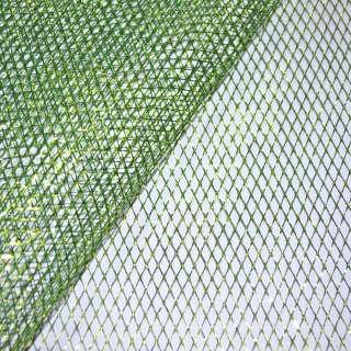 сетка зеленая с золот. люрексом (жесткая, крупная) ш.160 оптом