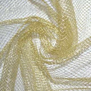 сетка с люрексом золотистая средн. ячейки ш.150 оптом