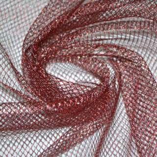 сетка с люрексом темно-красная со средн. ячейками ш.150 оптом