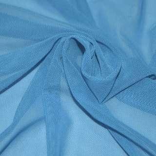Сетка стрейчевая плотная голубая (насыщ.) ш.160 оптом