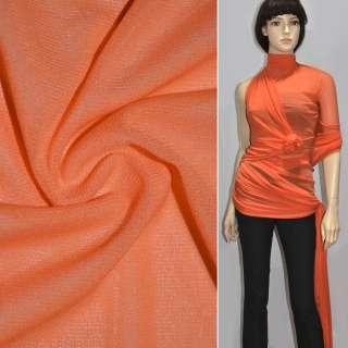 Сетка стрейчевая плотная оранжевая ш.160 оптом