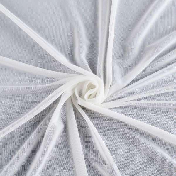 Сетка стрейчевая плотная белая ш.160 оптом