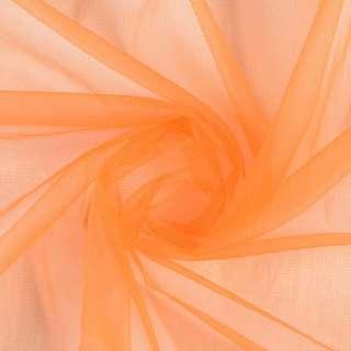 Сетка трикотажная прозрачная мягкая оранжевая ш.160 оптом