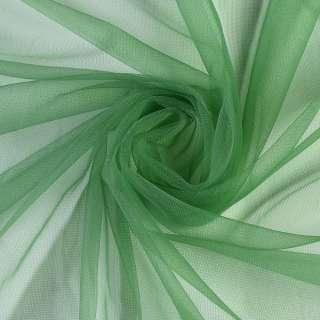 Сетка трикотажная прозрачная мягкая зеленая, ш.165 оптом