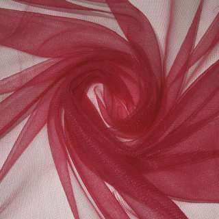 Сетка трикотажная прозрачная мягкая вишневая светлая ш.155 оптом