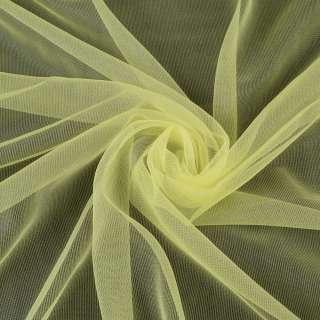 Сетка трикотажная прозрачная мягкая лимонная, ш.155 оптом