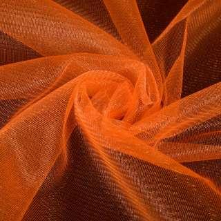 Сетка трикотажная  с микрометанитью прозрачная оранжевая, ш.160 оптом