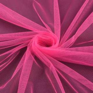 Сітка м'яка тонка яскраво-рожева ш.160 оптом