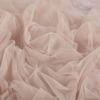 Сітка м'яка тонка бежево-рожева ш.160 оптом