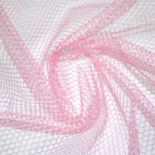 Сетка жесткая соты бледно-розовая ш.150 оптом
