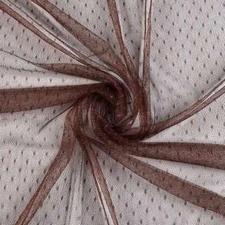 Сетка мушка мелкая коричневая темная, ш.150 оптом