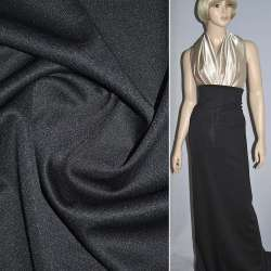 Трикотаж костюмный черный (плотный) ш.160 оптом