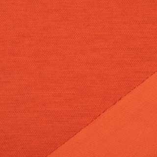 Трикотаж костюмный двухсторонний оранжево-красный, ш.150 оптом