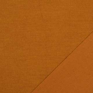 Трикотаж костюмный двухсторонний оранжево-коричневый, ш.150 оптом