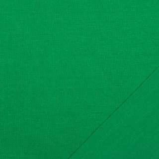 Трикотаж костюмный двухсторонний зеленый яркий, ш.150 оптом