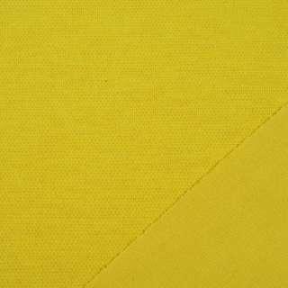 Трикотаж костюмный двухсторонний горчично-желтый, ш.150 оптом