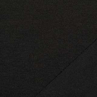 Трикотаж костюмный двухсторонний черный, ш.150 оптом