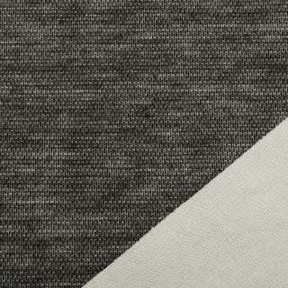 Трикотаж костюмный двухсторонний молочный/ черный меланж, ш.150 оптом