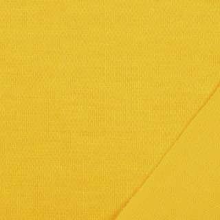 Трикотаж костюмный двухсторонний желтый, ш.150 оптом