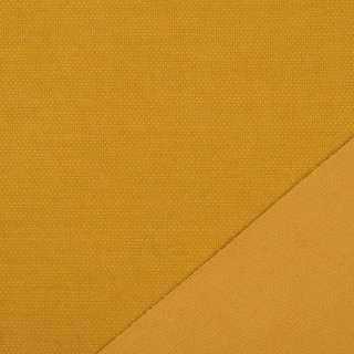 Трикотаж костюмный двухсторонний желтый темный, ш.150 оптом