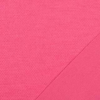 Трикотаж костюмный двухсторонний розовый яркий, ш.150 оптом