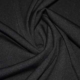 Трикотаж костюмный облегченный черный ш.160 оптом