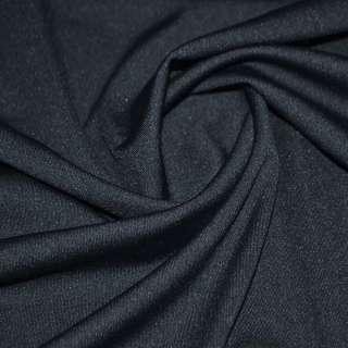 Трикотаж костюмный облегченный синий темный ш.160 оптом