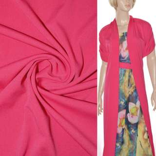 Трикотаж костюмный стрейч облегченный малиновый светлый ш.164 оптом