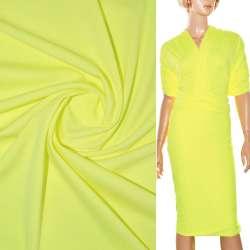 Трикотаж костюмный стрейч облегченный желтый ш.160