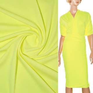 Трикотаж костюмный стрейч облегченный желтый ш.160 оптом