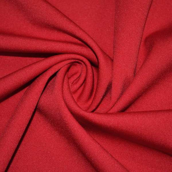 Трикотаж костюмный стрейч облегченный красный ш.160 оптом