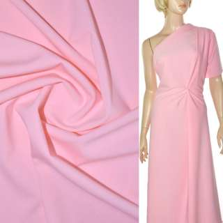 Трикотаж костюмный стрейч облегченный розовый ш.160 оптом