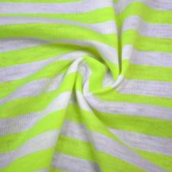 Трикотаж белый в лимоно люминисцентные полоски ш.175 оптом