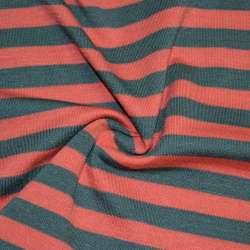 Трикотаж красный в серые полоски ш.172 оптом